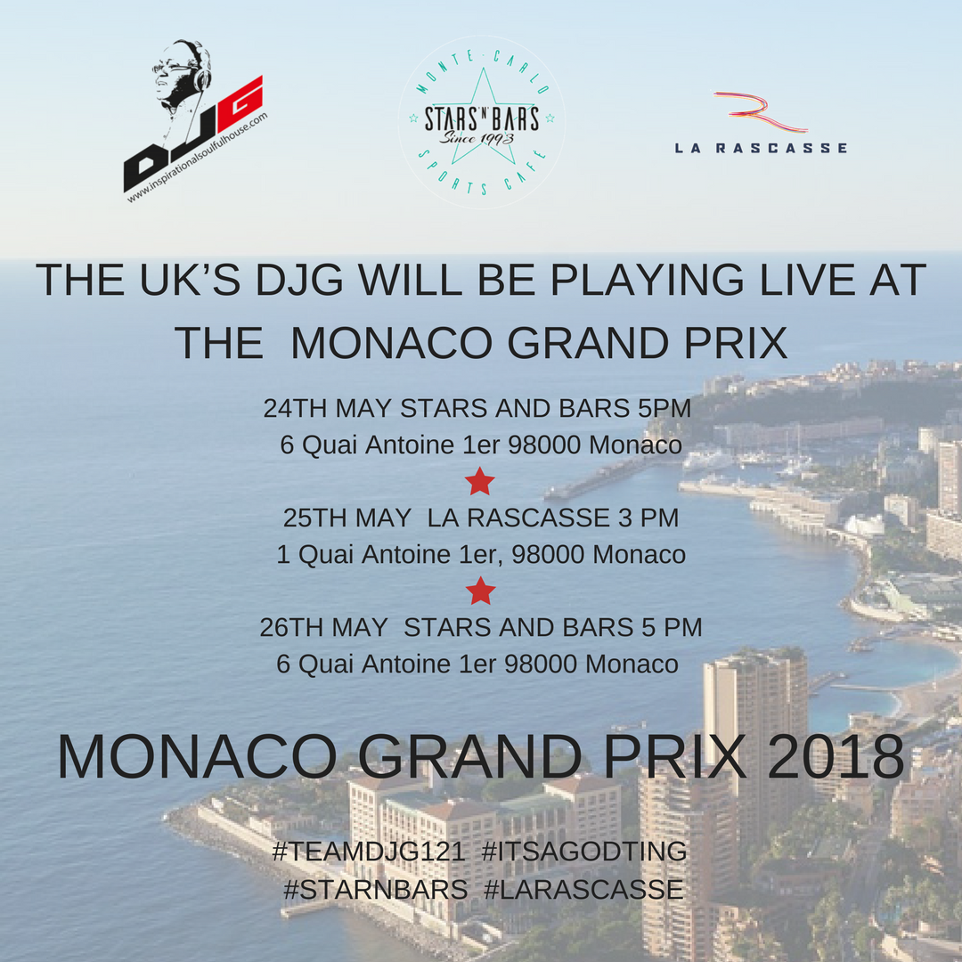 DJG BACK AT THE MONACO GRAND PRIX 2018